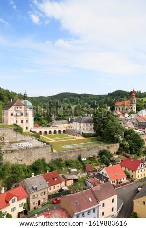 Ancient town Becov, Czech Republic