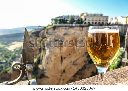 "Ancient town on a hill named ""Ronda"" in Southern Spain"