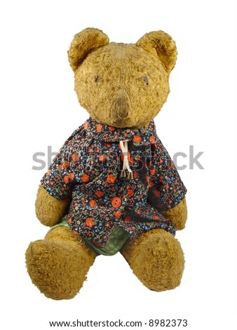 Ancient toy -  plush a bear in a shirt #8982373