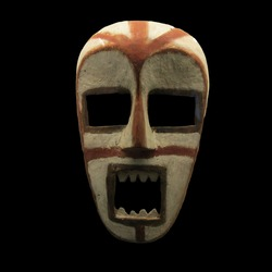 Ancient tribal mask from south american natives (Bogota, Colombia)