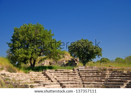 Ancient troy ruins in Canakkale Turkey