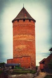 Ancient Turaida Castle in Sigulda, Latvia. Was built in 12th century