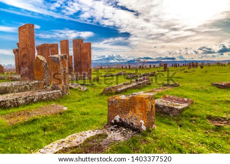 Ancient Turkish Cemetery (the scripts written on the gravestones have not been deciphered yet)