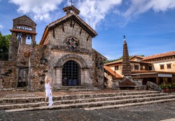Ancient village Altos de Chavon - Colonial town reconstructed in Casa de Campo, La Romana, Dominican Republic.