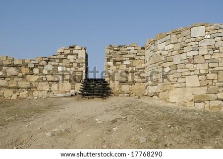 Ancient Wall - stock photo