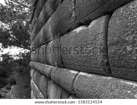 ancient wall, ancient city of priene