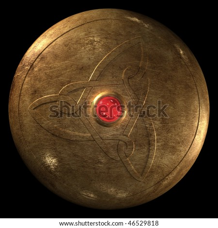 Roy Asuka (Done) Stock-photo-ancient-warrior-circle-shield-on-black-background-46529818