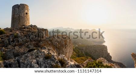Ancient Watchtower in the Sierra de Tramuntana of Mallorca