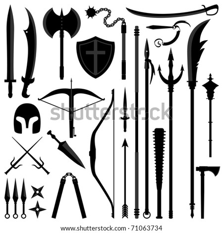 Ancient Weapon Tool Equipment Set