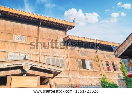 Ancient Wooden Architecture in Wuhan China #1351723328