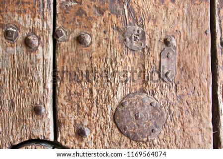 Old lock on the door  lock on the door of an old Castle