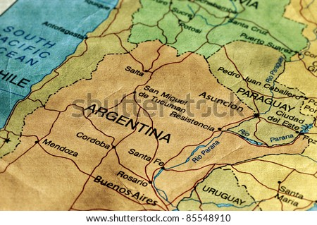 Ancient World Map of Argentina