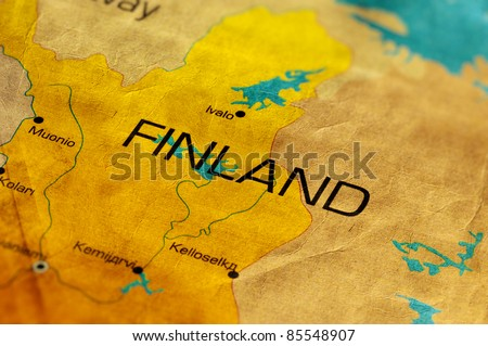 Ancient World Map of Finland