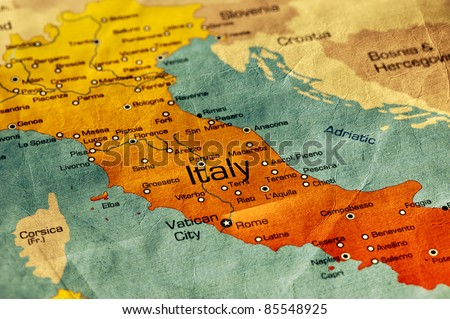 Ancient World Map of Italy