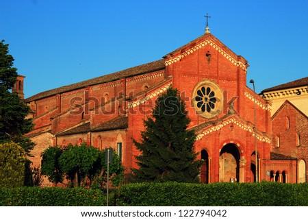 ancient XII Cistercians abbey in Alseno, Piacenza, Italy