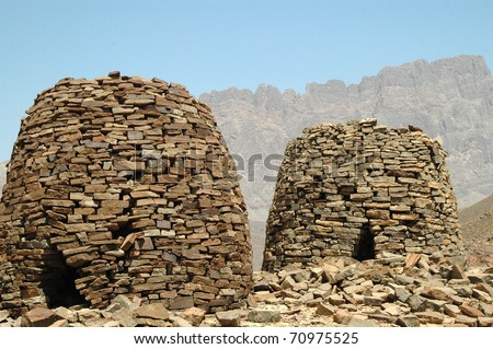 Ancient 5000 year old stone tombs