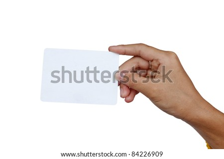 and and a card isolated on white