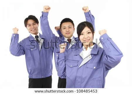 and women, work clothes