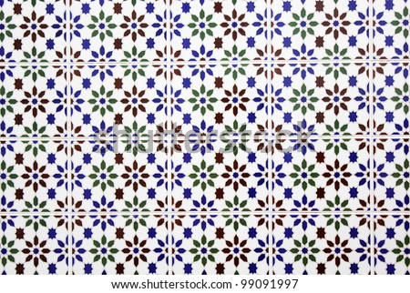 Andalusian tiles of a house