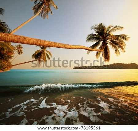 Andaman Sea in Thailand - stock photo