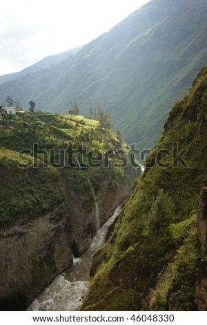 andean river banos ecuador