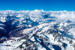 Andes Mountains view, Aerial, 2015