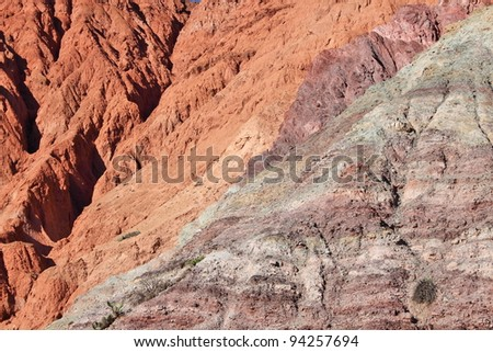 Andes region mountains background – arid multi-colored mountains (Northern Argentina)