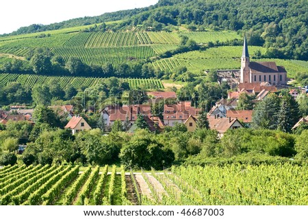 Andlau (Bas-Rhin, Alsace, France) - The village and its vineyards