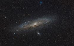 Andromeda galaxy at the deep sky at night