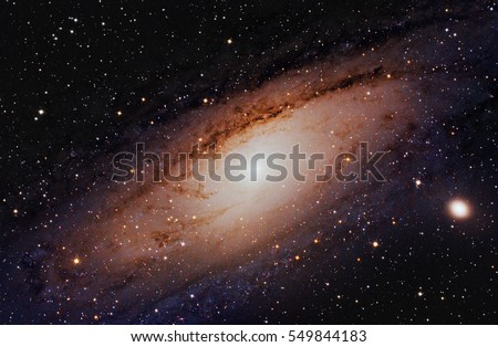 Andromeda Galaxy, Elements of this image are furnished by NASA.
