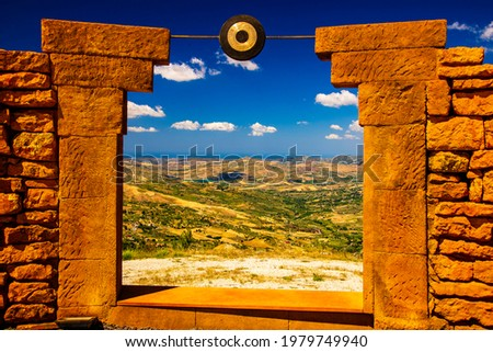 Andromeda theater (teatro Andromeda) Santo Stefano di Quisquina Sicily Foto stock ©