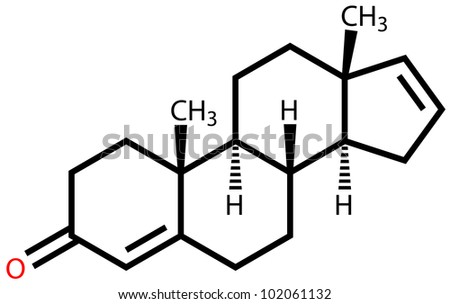 Androstadienone, a strong male-produced pheromone. Structural formula