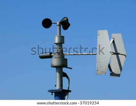 Anemometer - specialist equipment for wind monitoring, part of weather station