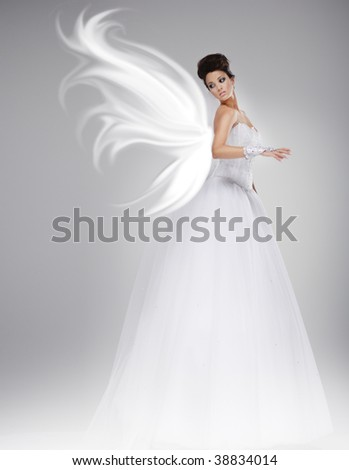 angel bride - stock photo
