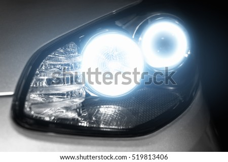Angel eyes xenon headlight glowing optics lens