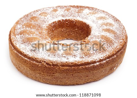 angel food cake isolated on white background
