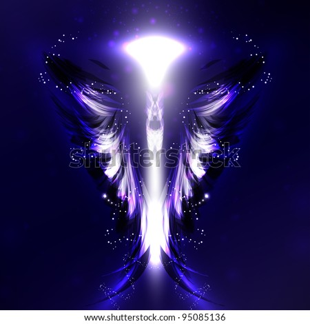 Angel futuristic background wing illustration