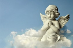 Angel guardian on the cloud