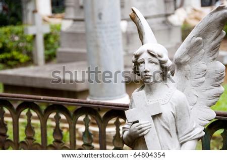 Angel guarding graveyard