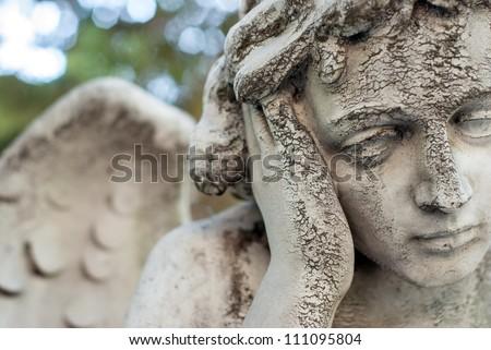 angel head closeup