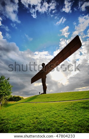 Angel of North - stock photo