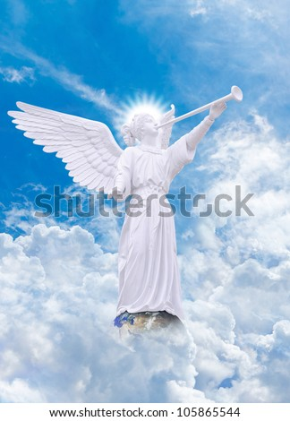 Angel on heaven : Elements of this image furnished by NASA