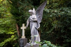 Angel statue at the cemetery
