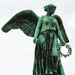 Angel Statue at the Copenhagen Marina, Denmark