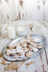 Angel Wings  with powdered sugar