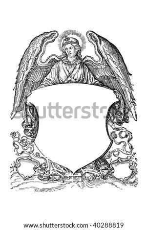 Angel with coat of arms from 16th century