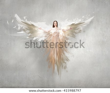 Stock Photo Angelic beautiful woman