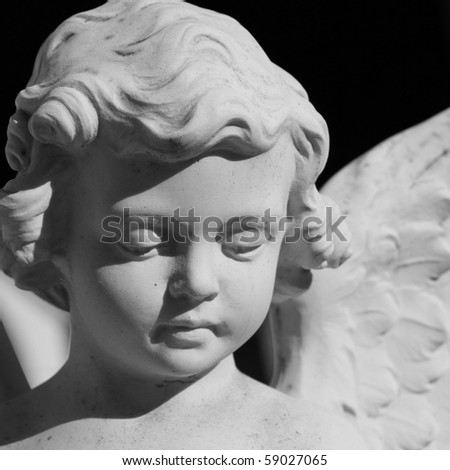 angelic face - stock photo