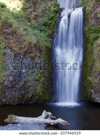 Angelic Lower Waterfall of the Multnamoh in the Columbia River Gorge