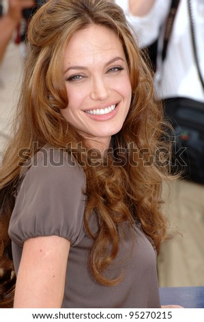 "Angelina Jolie at photocall for her new movie ""A Mighty Heart"" at the 60th Annual International Film Festival de Cannes. May 21, 2007  Cannes, France.  2007 Paul Smith / Featureflash"
